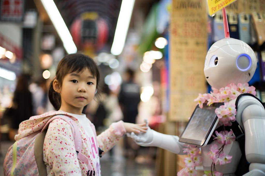 robot en tienda